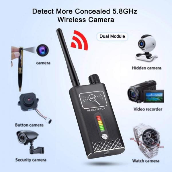 Detector Ultraprofesional de Camere Video Spion, Microfoane si Localizatoare GPS, 8.7 GHz, MAXPROTECT08, Husa Antiascultare Bonus 3