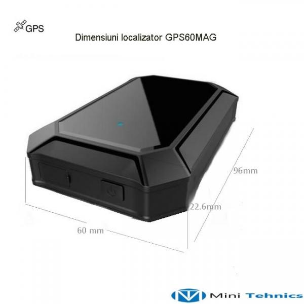 Localizator Profesional GPS Tracker cu autonomie 60 de zile, aplicatie iOS + Android, istoric 3 luni, atasare magnetica, model GPS60MAG 2