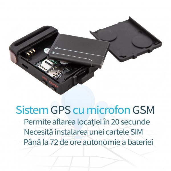 Localizator GPS Tracker cu Microfon GSM Spy Incorporat GT1427 1