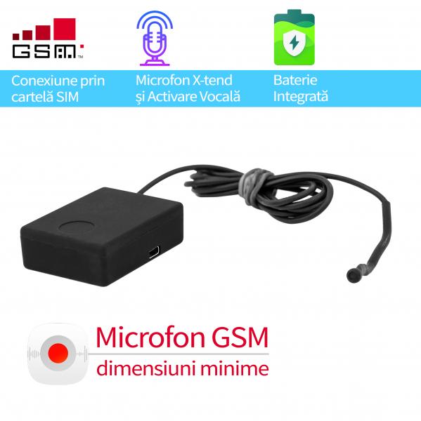 Microfon GSM Profesional spionaj auto cu AGPS pentru supraveghere masina X-tend EAR-AUTO 0