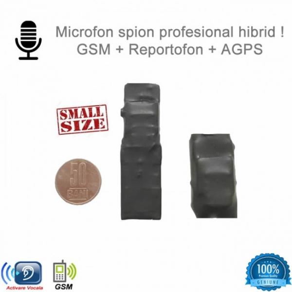 Mini modul microfon spion  cu modul gsm cu activare vocala + reportofon + AGPS, 2999 ore,MINIRIB08 2