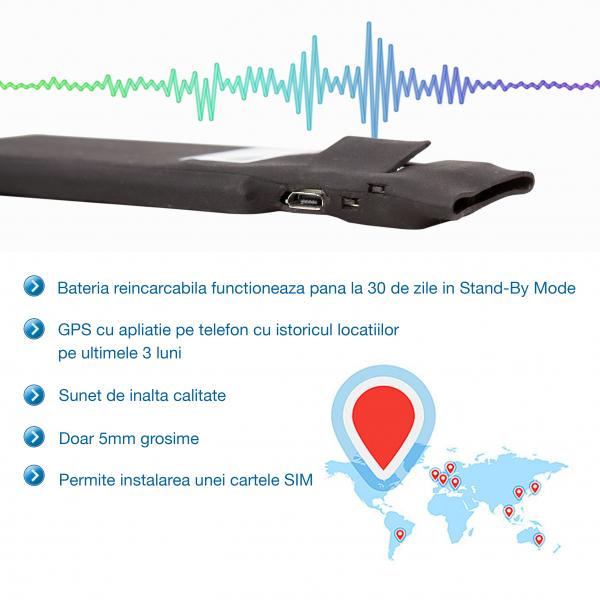 Mini Gps Tracker Profesional, Autonomie 30 Zile, Functie de Microfon Gsm [1]