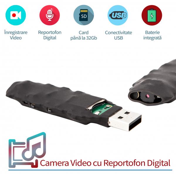 Modul Spy Profesional - Cameră Video cu Autonomie 5 ore și Reportofon 22 de Ore Autonomie, 0,8 mm , 13 Grame 1