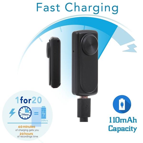 Mini Reportofon 8GB Autonomie 20 de Ore, Înregistrare Continuă și Capacitate de Stocare 90 de Ore - NANOREC 5