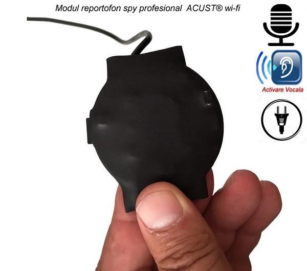 Reportofon Spy Ultraprofesional IP Wi-Fi + Descarcare Inregistrari + Ascultare Live pe Internet - Model ACUST® 2