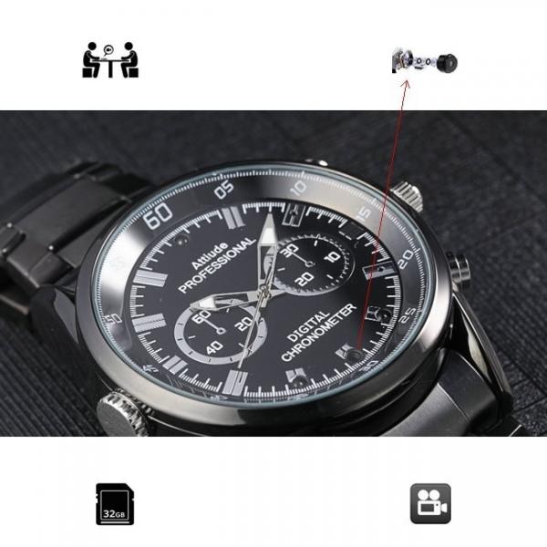 Camera video spy 1920x1080p in ceas de mana cu filmare pe timp de noapte 2