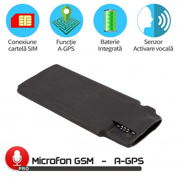 Modul Microfon Gsm pentru Spionaj in Timp Real cu Functie de Activare Vocala + Localizare in 20 Secunde, MN11MAX+ 0