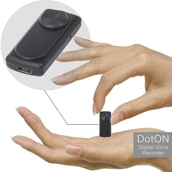 Modul Reportofon 8GB, Activare Vocală, 20 de Ore Autonomie și Capacitate de Stocare 90 de Ore, Model DOTON 9mm Grosime 1