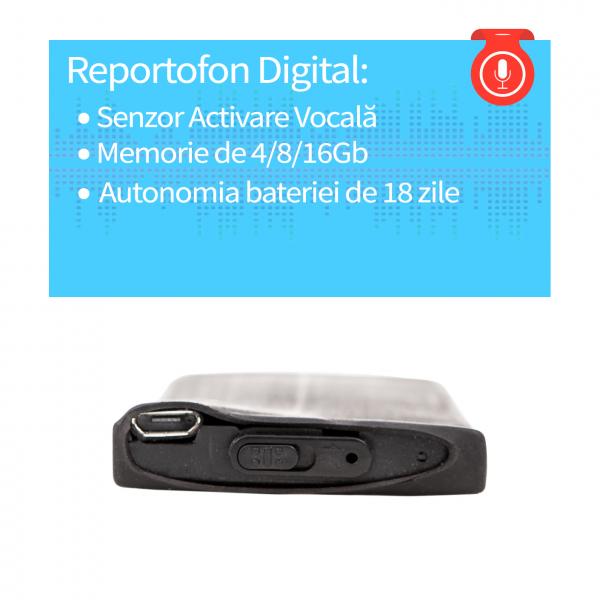 Modul reportofon spy Mammoth  - 280 de ore - 18 zile autonomie cu activare la detectia vocii- MA280RECVA 1