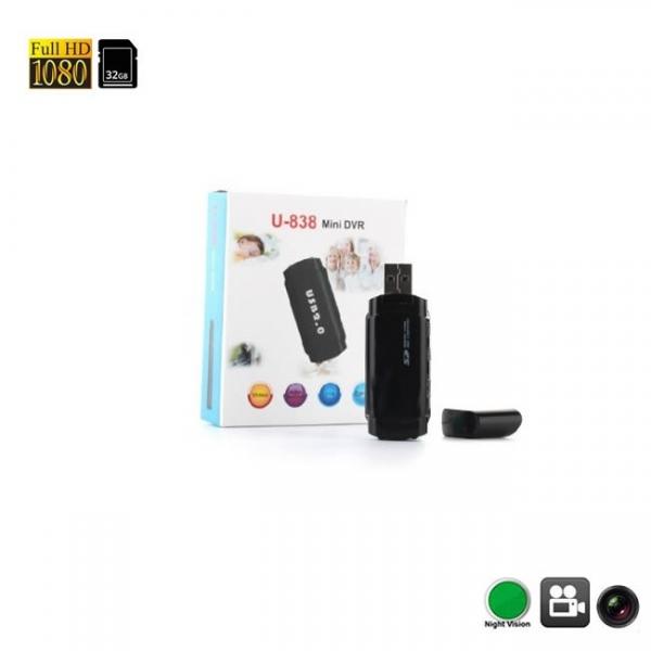 Camera video cu filmare pe timp de noapte ascunsa in stick USB de memorie 1