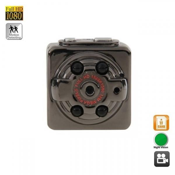 Microcamera video pentru spionaj cu senzor de miscare si night vision, 1920x1080p 0