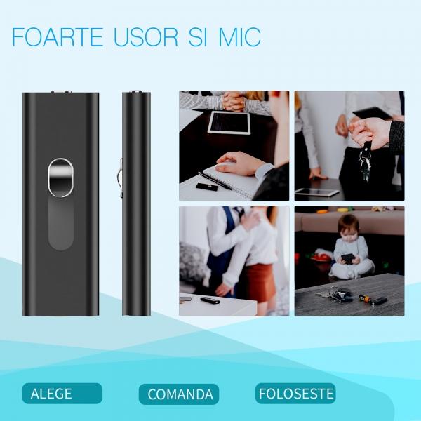 Reportofon Spion cu Activare Vocala in Stick USB, 16Gb-1128 de ore, 26 de ore autonomie, Ultra-Profesional 8