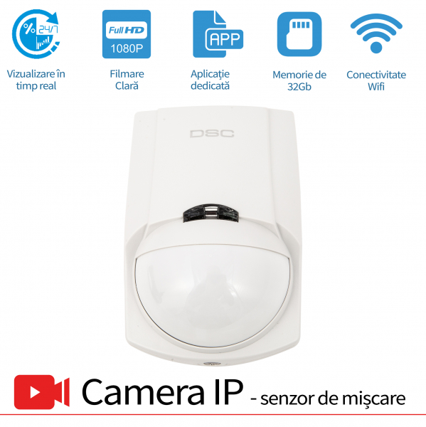 Senzor de miscare microcamera ip wireless 0