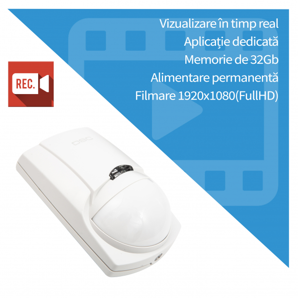 Senzor de miscare microcamera ip wireless