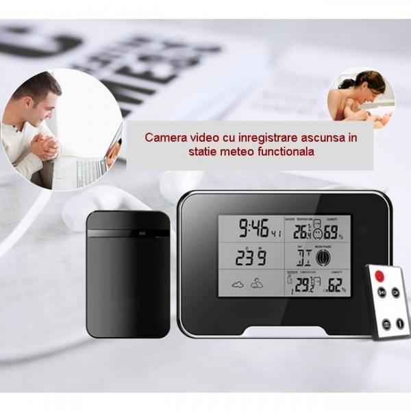 Termohigrometru cu microcamera video DVR pentru spionaj full HD 0