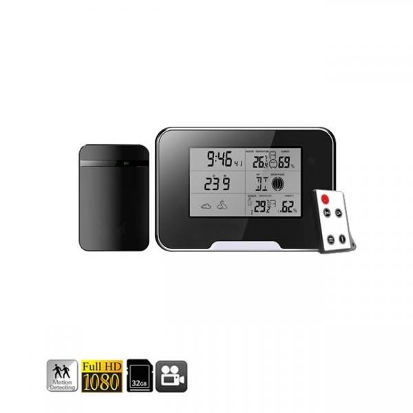 Termohigrometru cu microcamera video DVR pentru spionaj full HD 1