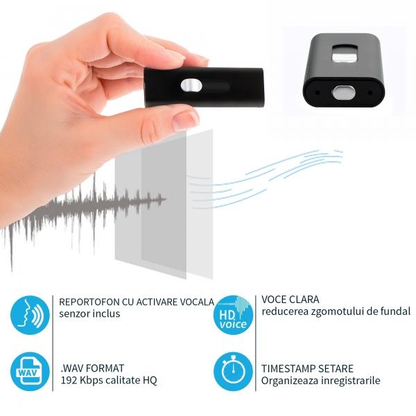 Stick USB de Memorie cu Activare la Voce, 16Gb -  Stocare 296 de Ore, 18 Ore Autonomie 4