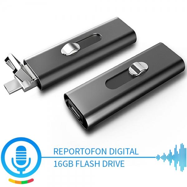 Stick USB de Memorie cu Activare la Voce, 16Gb -  Stocare 296 de Ore, 18 Ore Autonomie 0