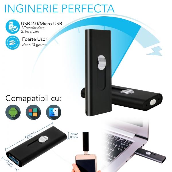 Stick USB de Memorie cu Activare la Voce, 16Gb -  Stocare 296 de Ore, 18 Ore Autonomie 10