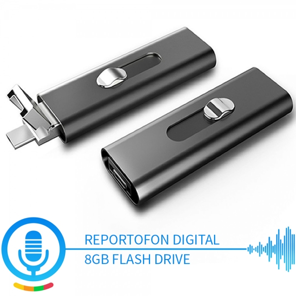 Stick usb de memorie reportofon spion cu activare la voce  8 Gb - 147 ore SR089GB22 0