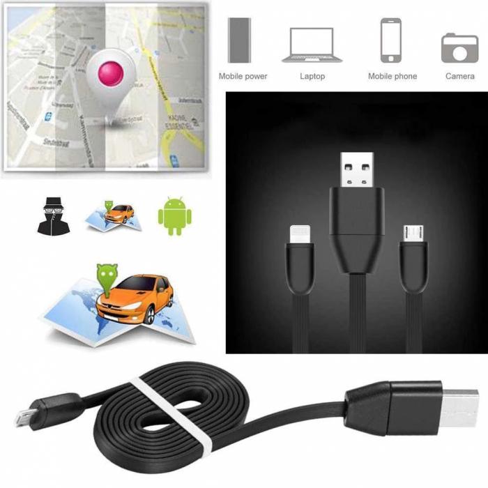 GPS Tracker si Microfon GSM cu activare vocala in Cablu USB pentru Telefon (Android/IOS ) [3]