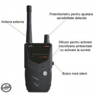 BHS Top 007 Mini – 5.2 Ghz - Detector pentru Camere si Microfoane Spion cu Scanare Manuala0
