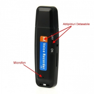 Reportofon Spy Mascat in Stick USB de Memorie - Model USBVR28 - Varianta Economica4