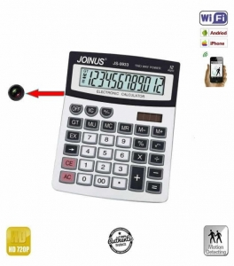 Camera spy wi-fi ip p2p camuflata in calculator de birou , 720p  - Model CBCVDCSWIP220