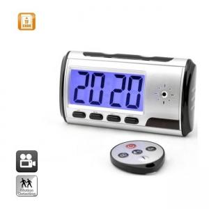 Cameră Video Spion Integrată în Ceas de Birou | Senzor de Mișcare | Telecomandă 32GB | CBC01GS