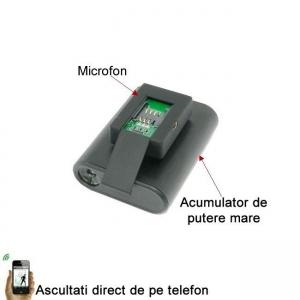Microfon Gsm Spion cu Extra-Baterie pentru 30 de Zile Autonomie - Foarte Apreciat [1]