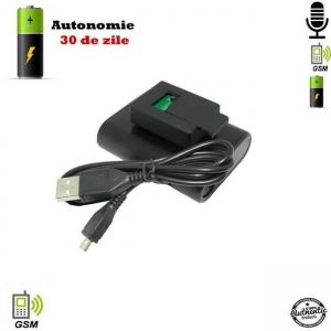Microfon Gsm Spion cu Extra-Baterie pentru 30 de Zile Autonomie - Foarte Apreciat0