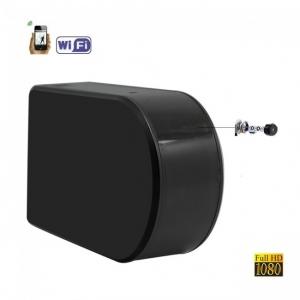 Camera Video Spion pentru Supraveghere Wi-Fi, Ip + DVR, Full HD 1920x1080p, Lentila Mobila 180 Grade Orientata din Aplicatie, Detector de Miscare1