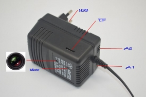 Camera Video Spy DVR + WI-FI IP P2P Mascata in Incarcator de Priza , 32 GB, 1080p, IPCCSIPWIFI78, Alimentare Continua1