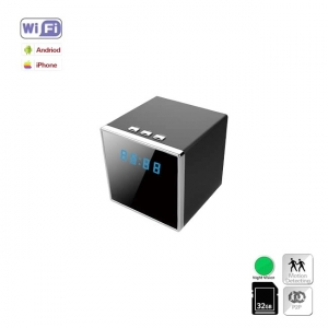 Camera Video Spy IP Wi-Fi Camuflata in Ceas de Birou Cubic, 1920x1080p, Senzor de Miscare