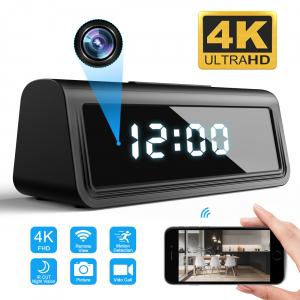 Camera Video Spion, IP WI-FI Integrata in Ceas de Birou, Night Vision, Rezolutie 4K, 128GB, P2P, Senzor de Miscare0