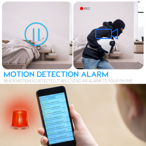 Camera Video Spion, IP WI-FI Integrata in Ceas de Birou, Night Vision, Rezolutie 4K, 128GB, P2P, Senzor de Miscare2