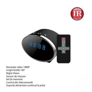 Camera Spy 1920x1080p cu Night Vision Ascunsa in Ceas de Birou, Detector de Miscare, Card MicroSD 64GB1