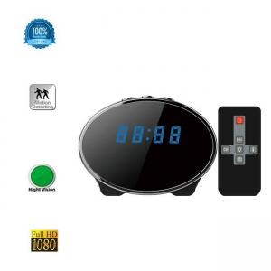 Camera Spy 1920x1080p cu Night Vision Ascunsa in Ceas de Birou, Detector de Miscare, Card MicroSD 64GB0