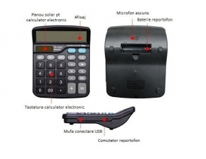 Reportofon Spion Integrat în Calculator de Birou,  Autonomie 72 de Ore