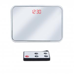 Cameră Spion HD de 5MP Ascunsă în Ceas de Birou | Senzor de Mișcare | Reportofon | Suportă Card MicroSD de 32GB | Telecomandă | JSCM0892