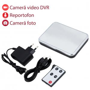 Cameră Spion HD de 5MP Ascunsă în Ceas de Birou | Senzor de Mișcare | Reportofon | Suportă Card MicroSD de 32GB | Telecomandă | JSCM0890