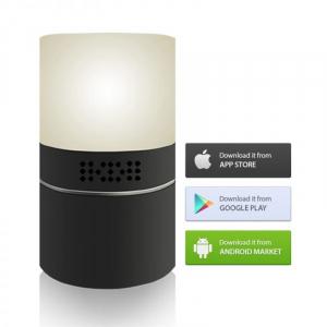 Cameră Video Spy Ascunsă în Lampă de Veghe, Rezoluție Full HD, Capacitate Stocare 128GB, Activare la Mișcare4