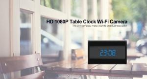 Camera Video DVR IP WiFi cu Senzor de Miscare Integrata in Ceas de Birou Spion | 1080P | 32GB | CSIP28885