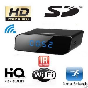 Camera spion WI-FI IP HD Ascunsa in Ceas Desteptor | Infrarosu Nedetectabil | Aplicatie dedicata | Suporta card micro SD de maxim 32 GB | Senzor de Miscare | CCSWIIP1120