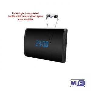 Camera Video DVR IP WiFi cu Senzor de Miscare Integrata in Ceas de Birou Spion | 1080P | 32GB | CSIP28881