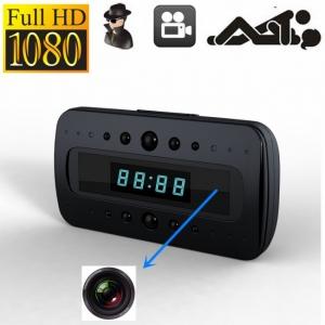 Microcameră Video Spion WI-FI, IP, P2P în Ceas de Birou pentru Spionaj Discret |32GB | HD | Senzor de Mișcare IR | CCSWIIP1141