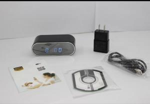 Cameră Video Wi-Fi Pp P2P Spy Încorporată în Ceas de Birou cu Senzor de Mișcare și Night Vision3