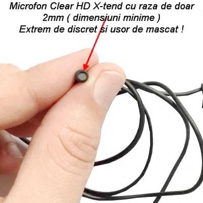 Microfon GSM Spy Profesional cu Sunet Ultraclear și Activare Vocală, Microfon x-tend EAR1 de 2mm