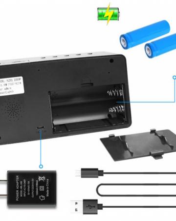 Ceas de birou cu Microcamera Wi-Fi IP Wireless Spy HD Smart, Detector de Miscare, Night Vision, 64GB, CCSWIIP31 [3]