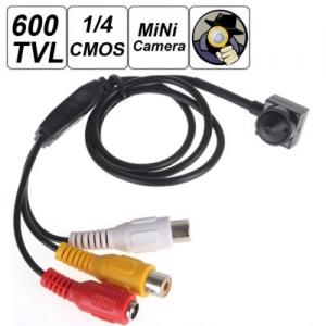 PINE600CSCCTV - Cameră Spion CCTV pentru Supraveghere, Pinhole, Sunet, 600 TVL1